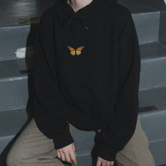 Brandy Melville Butterfly Oversized Hoodie